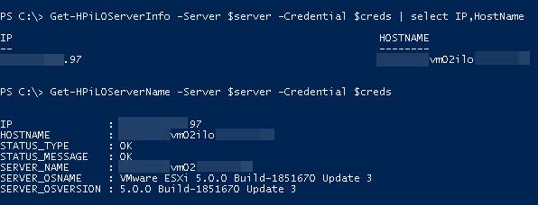PowerShell - Configuring the HP iLO Hostname ·