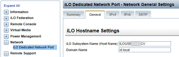 iLO Subsystem Name