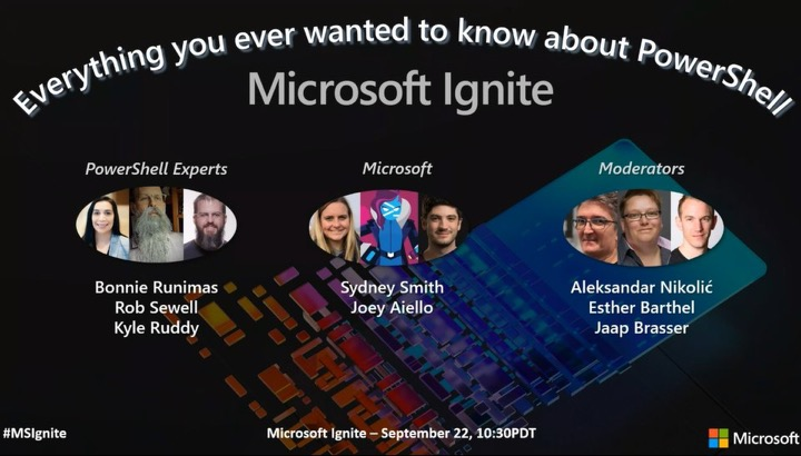 Ignite - Ask the Expert: Everything you ever wanted to know about PowerShell